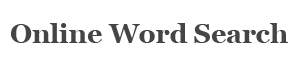 Word search logo